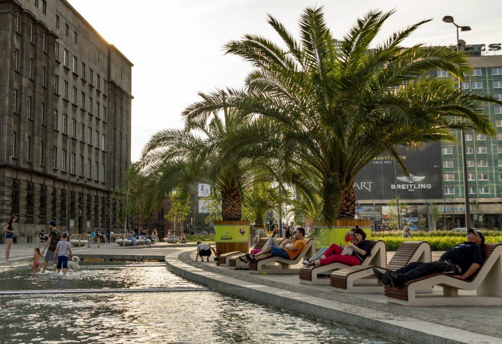 Katowice sztuczna Rawa i palmy